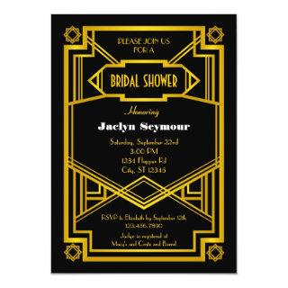 1920s Hollywood Style Bridal Shower Invitations