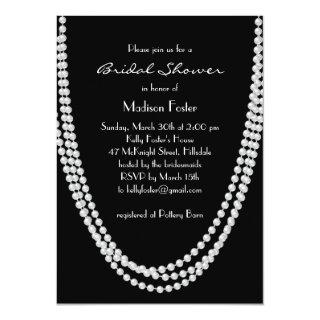 1920's Pearl Bridal Shower Invitation
