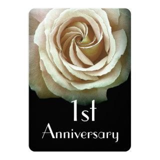 1st Wedding Anniversary  Papyrus Yellow Rose A02D Invitations