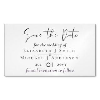 25 Magnetic Save the Dates BARGAIN! Classic White Business Card Magnet