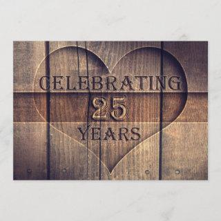 25 years wedding anniversary unique invitations