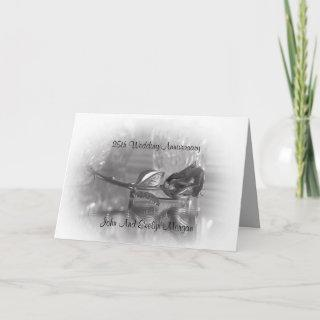 25th Anniversary party Invitations silver rose