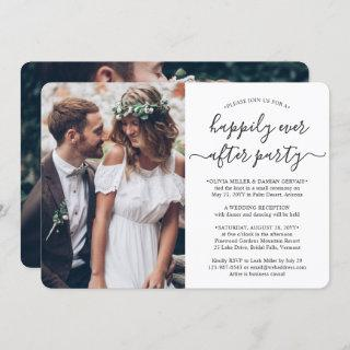 2 Photo Happily Ever After Party Wedding Reception