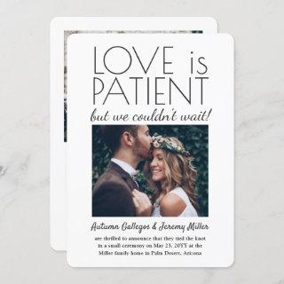 2 Photo Reception Only Love is Patient Wedding