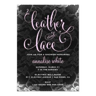 311 Leather and Lace Shower Invitations