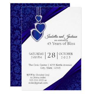 45th / 65th Sapphire Anniversary Design Invitation