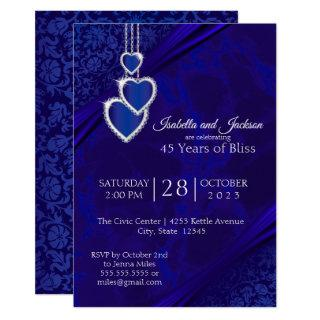 45th / 65th Sapphire Wedding Anniversary Design Invitation