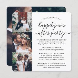4 Photo Happily Ever After Party Square Wedding