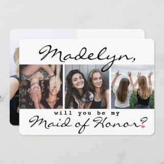 4 Photo Will You Be My Maid of Honor Proposal