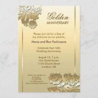 50 golden anniversary Invitations