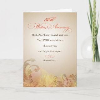 50th Wedding Anniversary, Religious Lord Bless & K Card