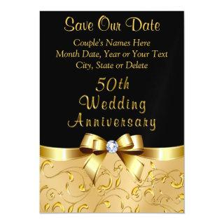 50th Wedding Anniversary Save the Date Magnets