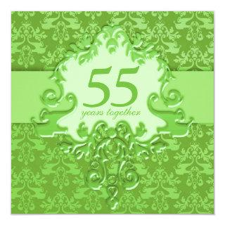 55th Emerald Wedding Anniversary party Invitations