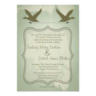 5x7 Country Duck Hunting Rustic Wedding Invitation