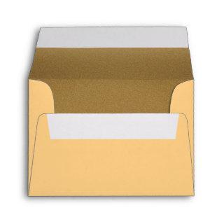 A2 Envelope Note Card Wheat Bronze Elegant Simple