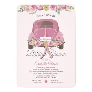 A Drive By Bridal Shower Invitations