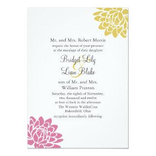 A Lotus Flower Wedding Invitations 2(yellow)