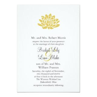 A Lotus Flower Wedding invitation (yellow)