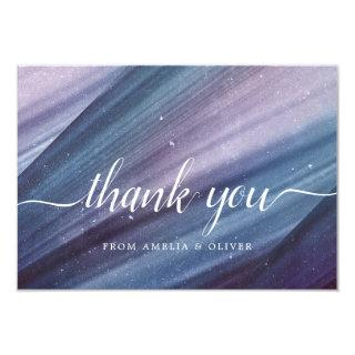 Abstract Blue & Purple Minimalist Thank You Card