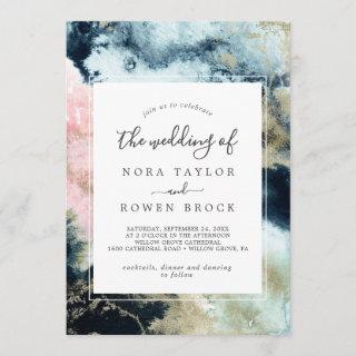 Abstract Celestial Watercolor The Wedding Of Invitations