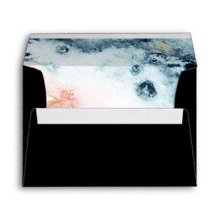 Abstract Celestial Watercolor Wedding Invitation Envelope