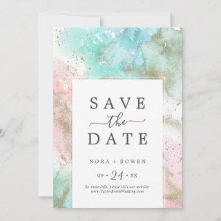 Abstract Summer Save the Date Announcement Card