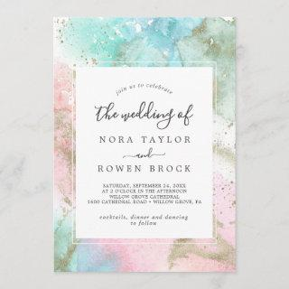 Abstract Summer Watercolor The Wedding Of Invitation