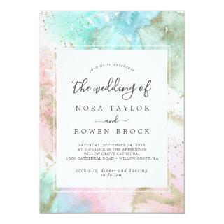 Abstract Summer Watercolor The Wedding Of Invitations