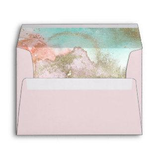 Abstract Summer Watercolor Wedding Invitations Envelope