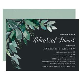 Abundant Foliage | Rehearsal Dinner Invitations