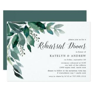 Abundant Foliage | Rehearsal Dinner Invitation