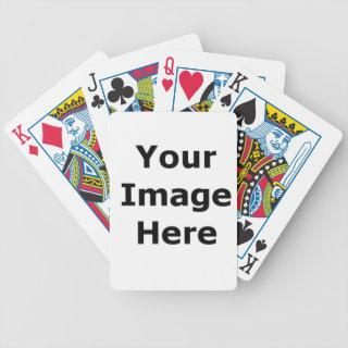 Add your own pictures, graphics and text to....... bicycle playing cards