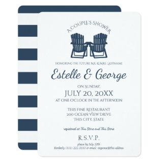 Adirondack Chairs Couple's Shower Invitations