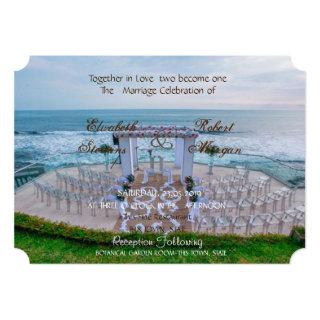 Adorable Beach  Wedding Floral  Invitations