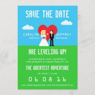 Adorably Nerdy 8-Bit Bride & Groom Save the Date