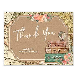 Adventure Map Bridal Shower Thank You Card