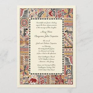 African Afternoon Wedding Invitations