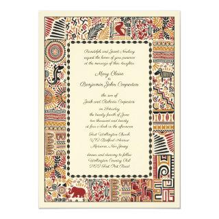 African Afternoon Wedding Invitation