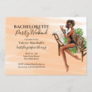 African American Bachelorette Party Weekend Invitation