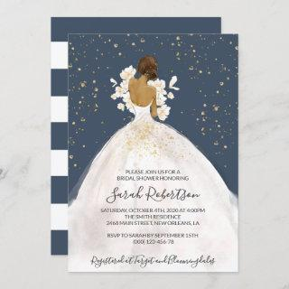 African American Bride, Wedding Dress, Bridal Invitations