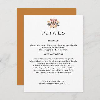 African Decor Wedding Information Guest Enclosure Card