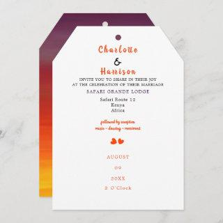 African Safari Wedding  Destination Invitation