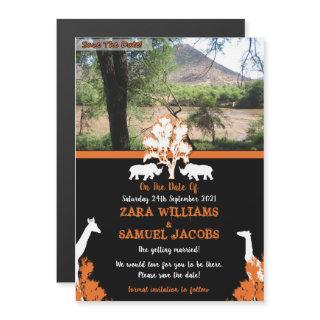 African Wedding Save The Dates Magnetic Invitations