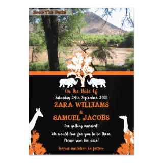 African Wedding Save The Dates Magnetic Invitation