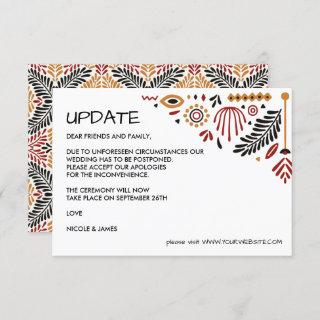 Africana | Modern Ankara Kente  WEDDING UPDATE Invitations