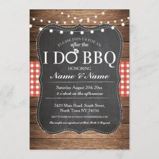 After The I DO BBQ Post Wedding Invitations Chalk