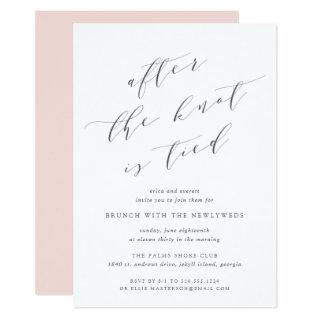 After the Knot is Tied | Wedding Brunch Invitations