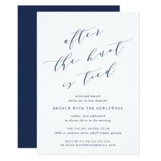 After the Knot is Tied | Wedding Brunch Invitation