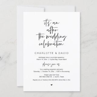 After the wedding, Black, Elopement Party