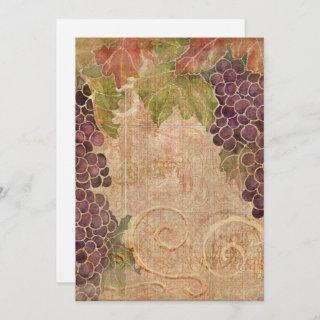 Aged Grape Vineyard Blank Note Cards